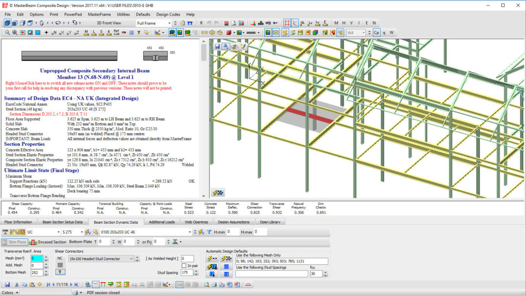 Csf04 Integrated Frame With Hollowcore Units