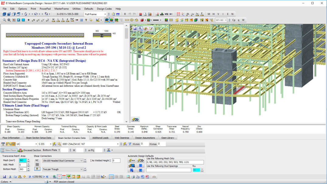 Csf06 Integrated Frame With Shallow Profiled Decking