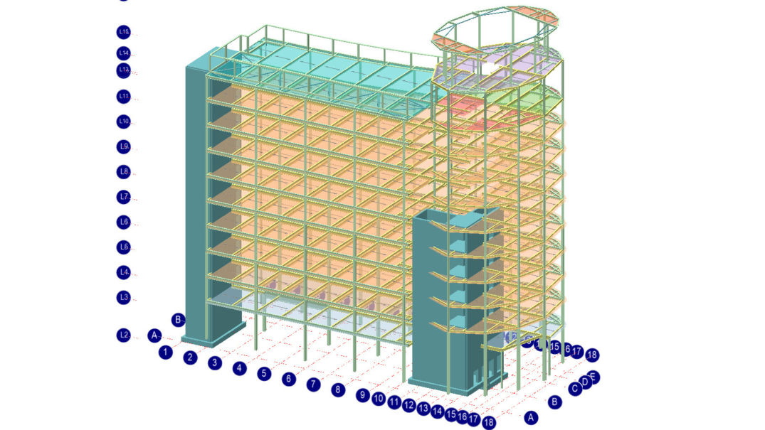Com01 Multi Storey Frame With Composite Floors
