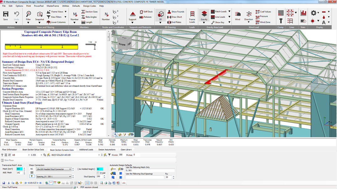 Integrated analysis and design of a 3d composite structure
