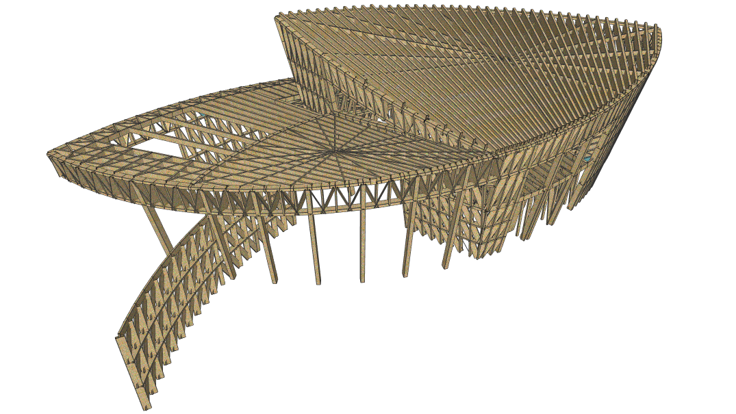 MasterFrame 3D free-from timber structure