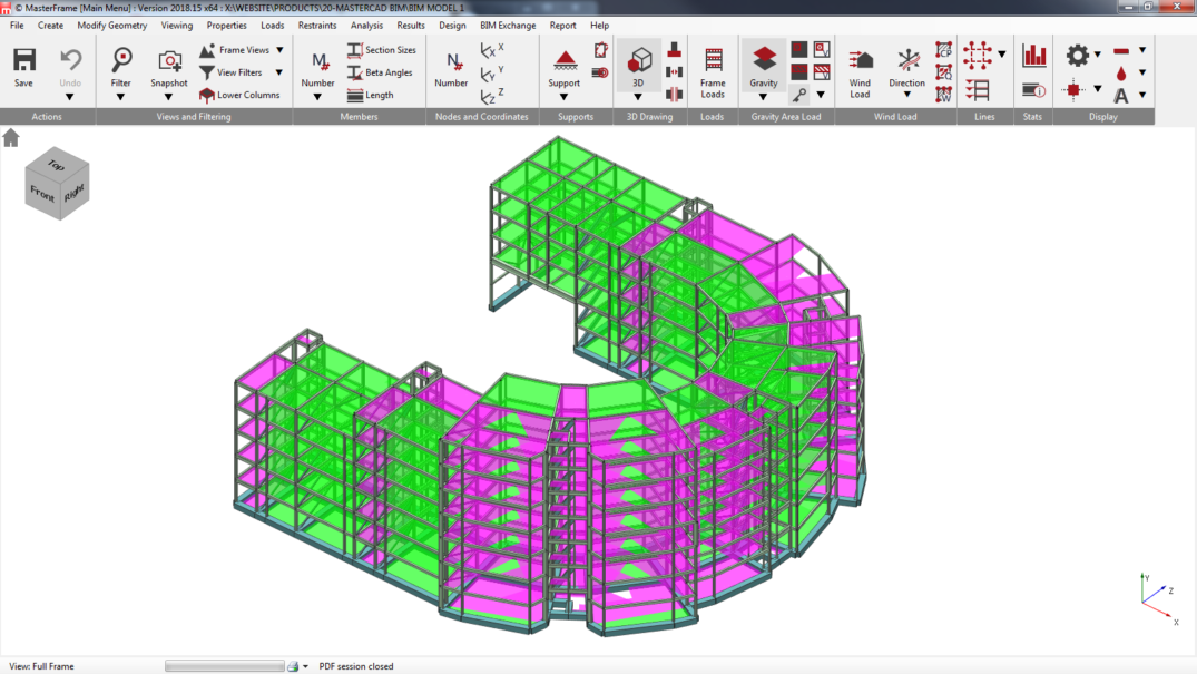 Large 3D Concrete BIM model exchange between MasterSeries and Revit