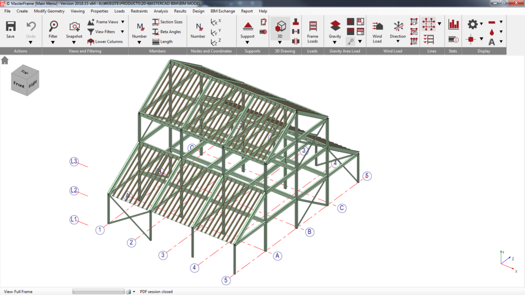 3D Multi-Material BIM model exchange between MasterSeries and Revit