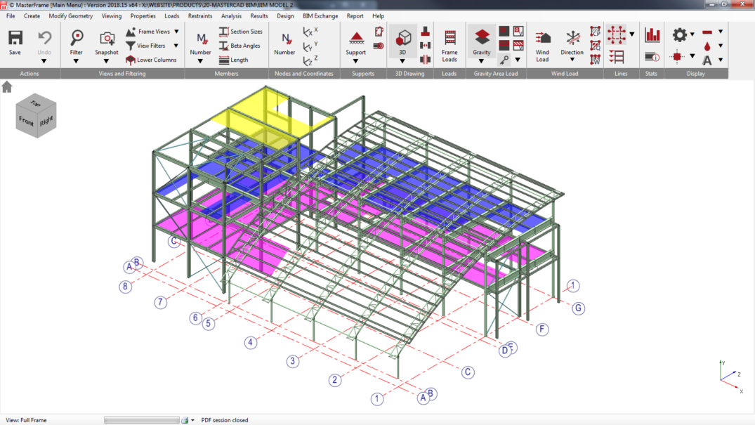 3D steel BIM model exchange between MasterSeries and Revit