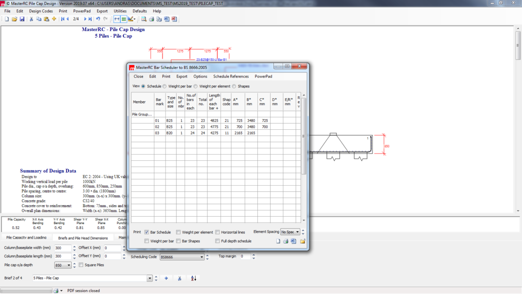 MasterSeries | Pile Cap Design Software | Structural Design