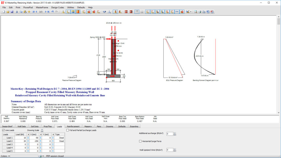 MasterSeries | Retaining Wall Design Software | Gravity