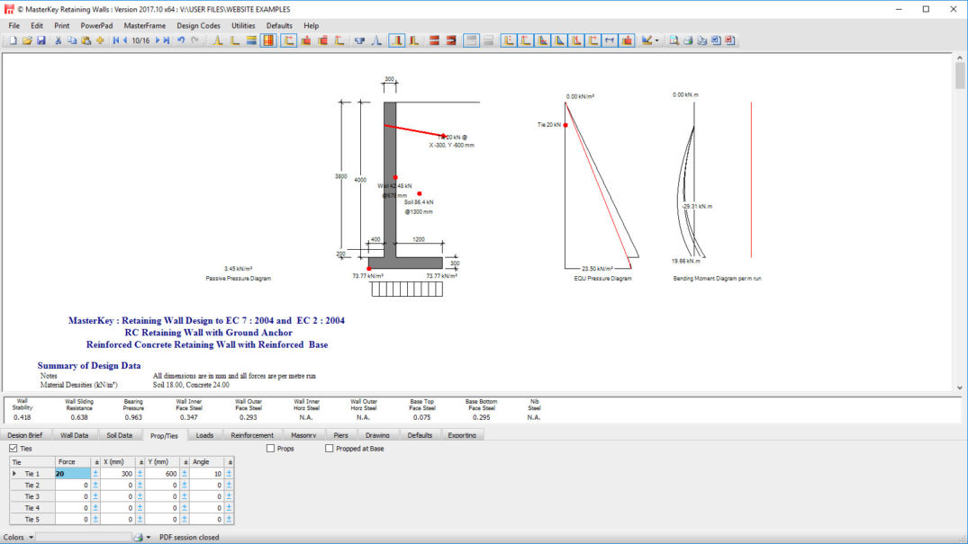 Retaining Walls | Engineering Software | Masterseries