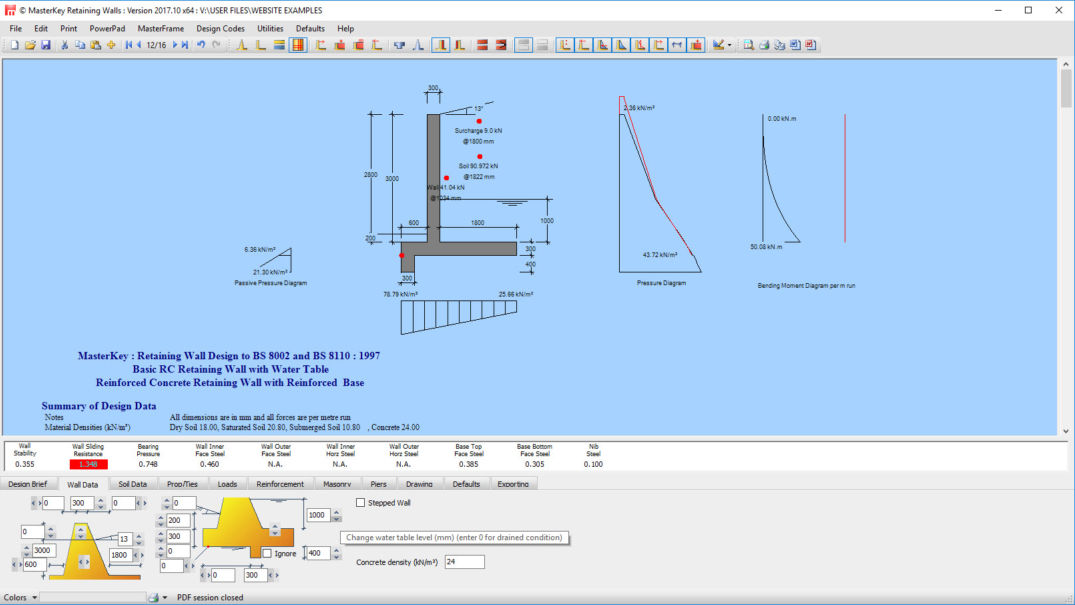 Masterseries Retaining Wall Design Software Gravity
