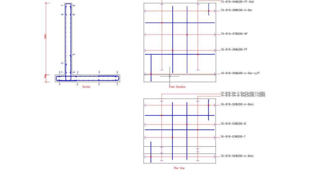 DXF Export of Reinforcement Detailing