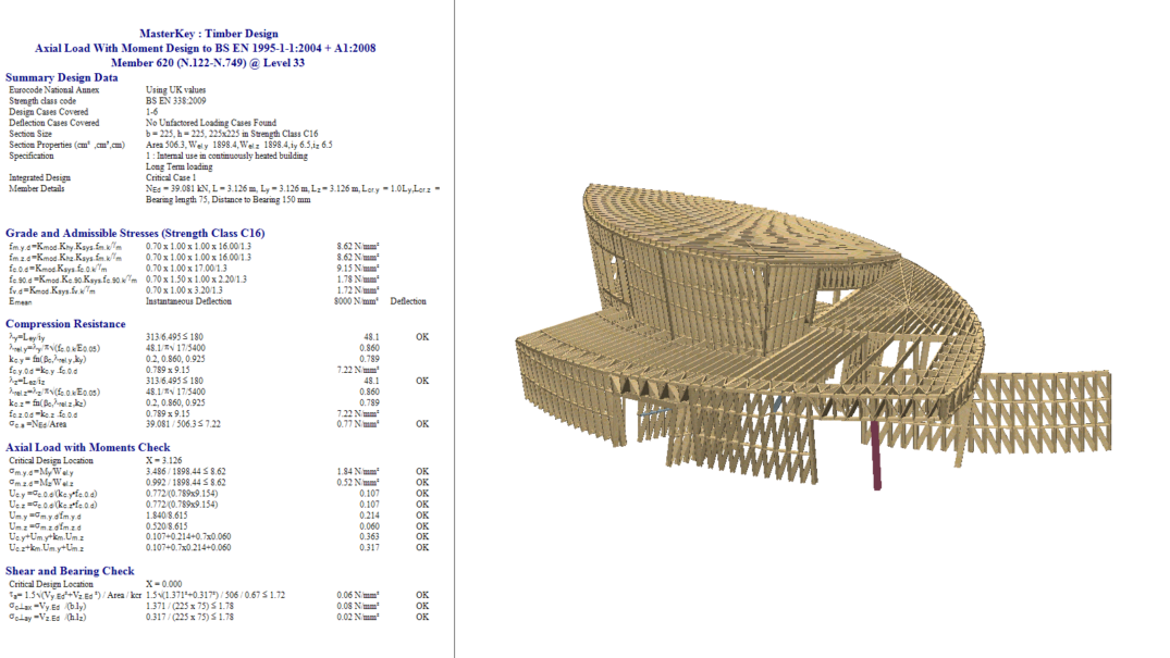 Detailed Timber design calculation