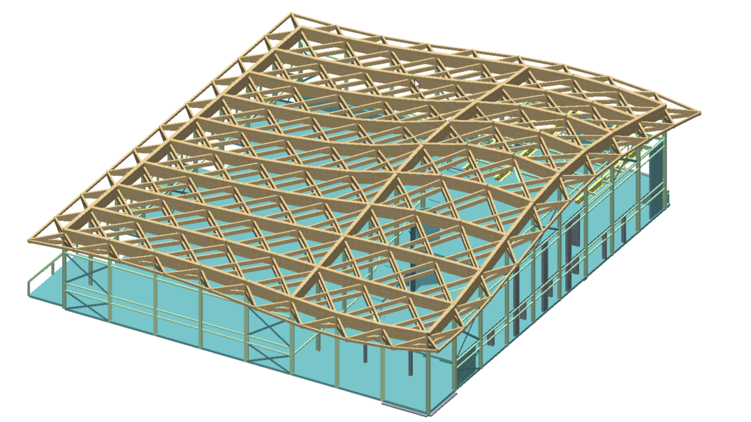 Timber Frame Double Curvature Roof