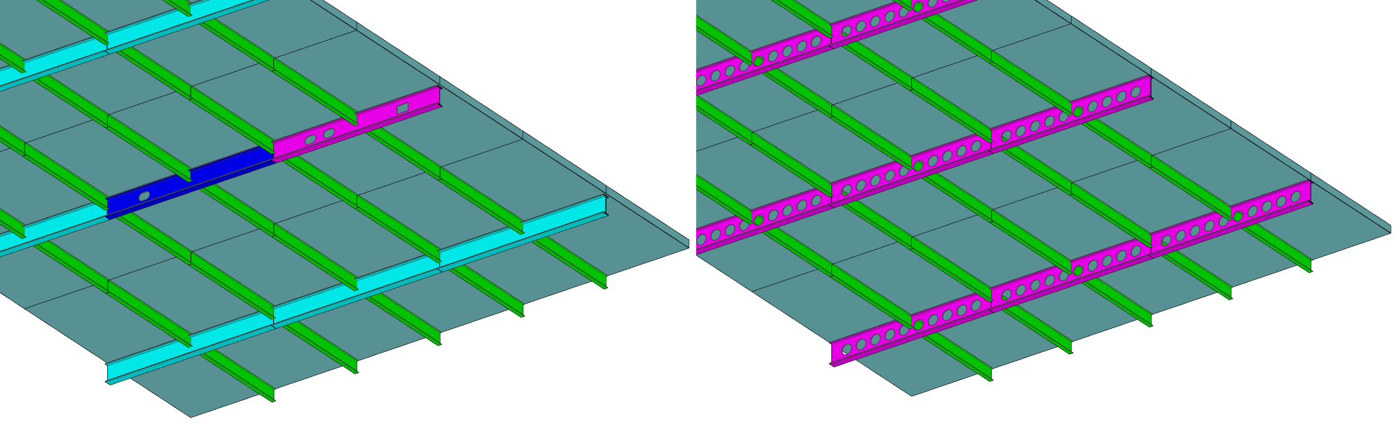 Composite beams with web openings