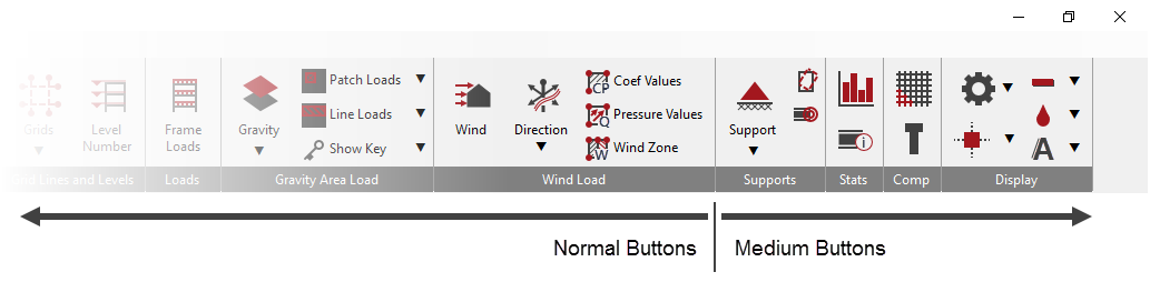 Normal and Medium Menu Buttons