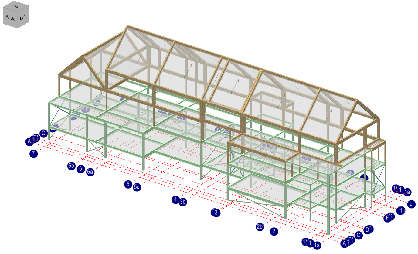 MasterFrame: 3D structural analysis model