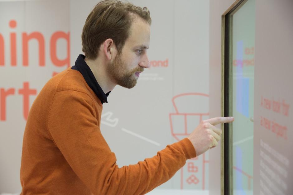 Interactive identity installation