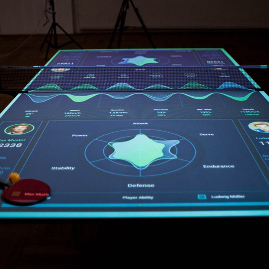 Interactive table tennis