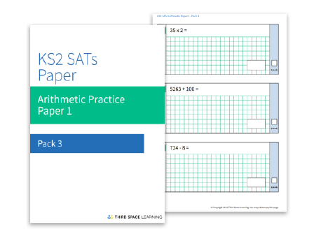 Sa Ts Practice Paper: Arithmetic (Pack 3) | Maths Hub | Third Space ...