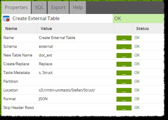 Create External Table