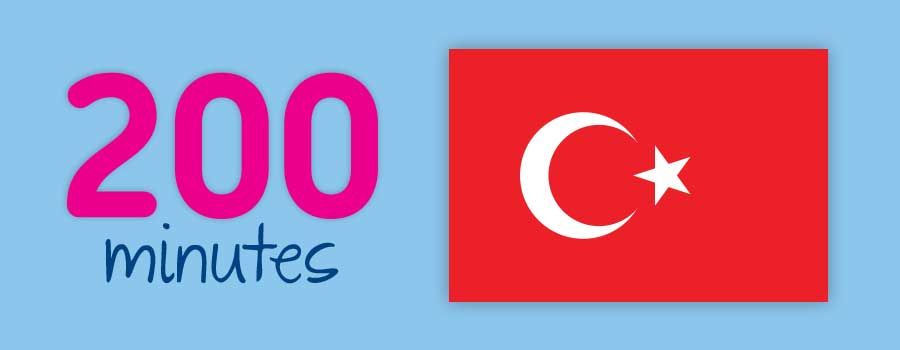 200 mins to Turkey with MyPack Plus