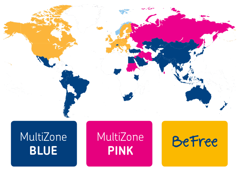 Ringer du til utlandet? Dette kartet viser deg hvilke land som inkludert i hvilke pakkeprodukter.