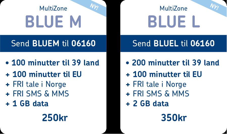MultiZone BLUE pakkeladekort