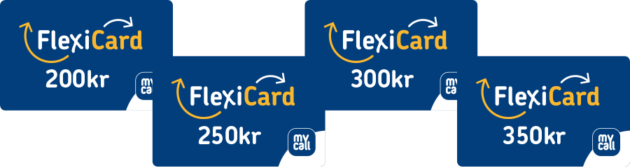 These are the different values FlexiCard comes in.