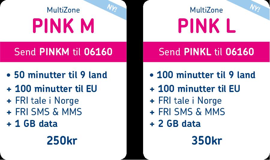 MultiZone PINK pakkeladekort