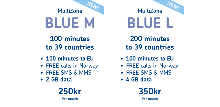 All our MultiZone BLUE mobile plans