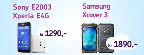 Billige telefoner - sony xperia og samsung xcover3