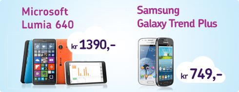 mobiltelefon på tilbud