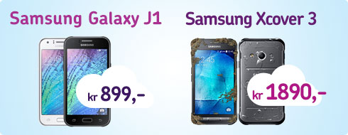 Billige telefoner - samsung galaxy J1 og samsung xcover3