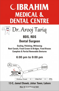 Top Doctor for Aesthetic Crown And Bridges in Lahore - Dr. Arooj Tariq
