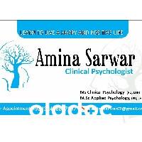 Ms. Amina Sarwar (Psychologist) Lahore