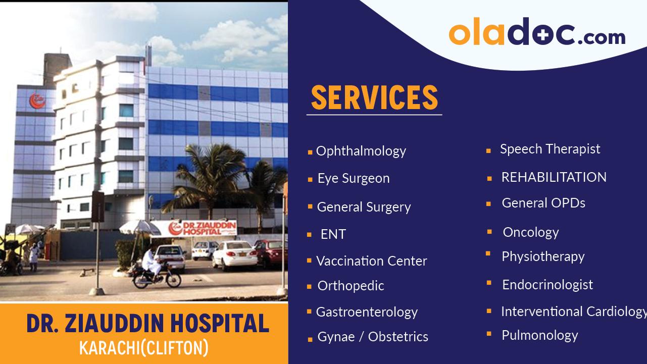 Dr Ziauddin Hospital Clifton Karachi Book Appointment Oladoc