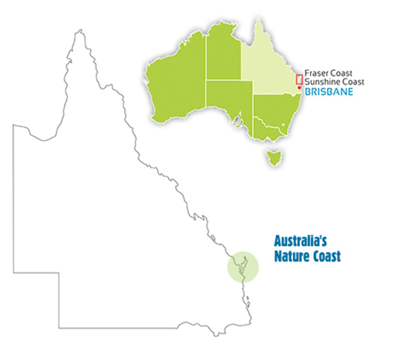 Australias Nature Coast map