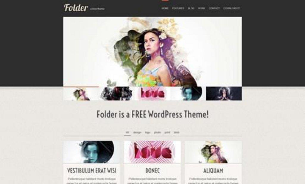 thème wordpress gratuit Folder