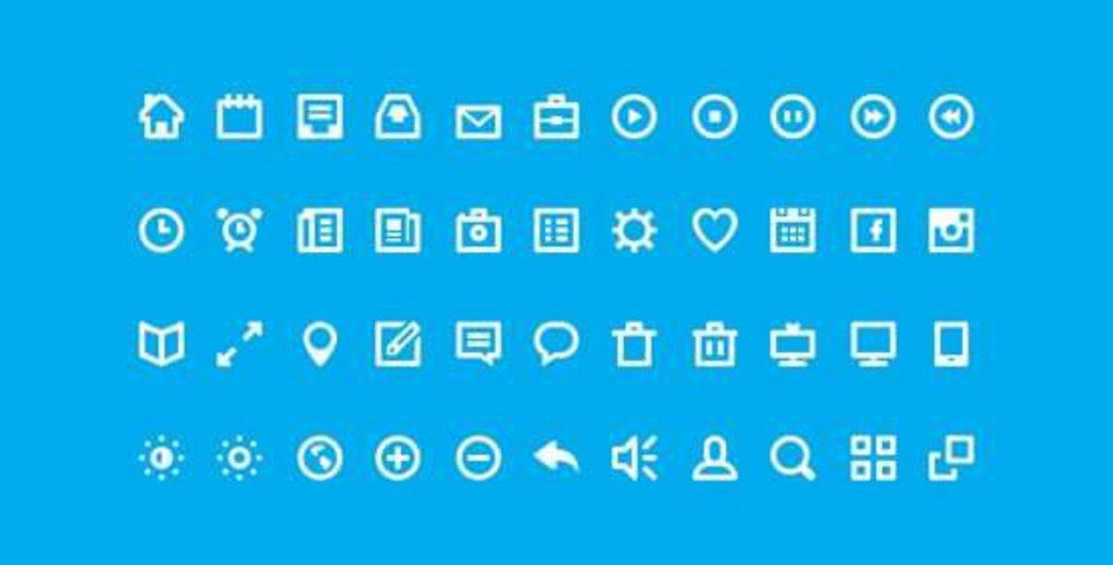44 nuances icônes gratuites psd
