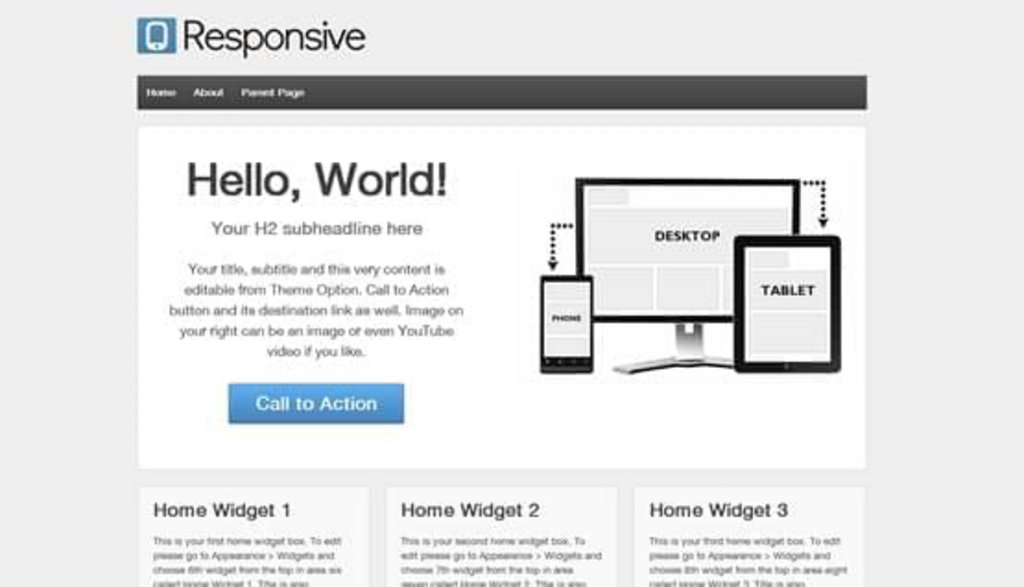 thème wordpress gratuit Responsive