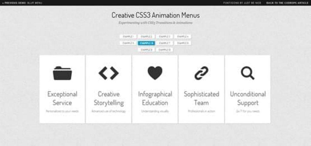 8-Creative-CSS3-Animation-Menus