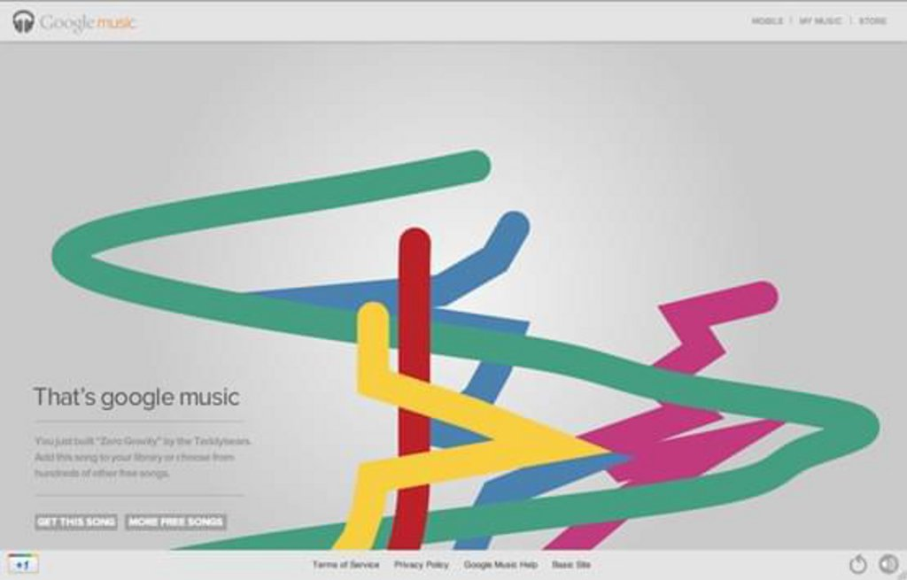 Canvas HTML Google Music Tour