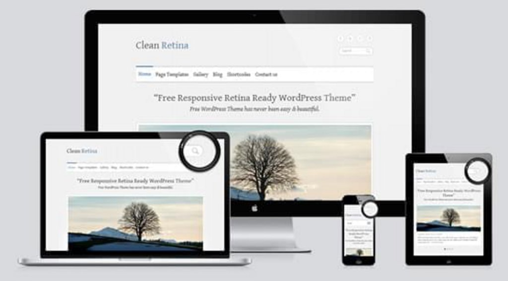Clean retina - template wordpress gratuit responsive