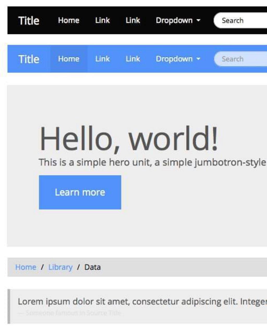 Cosmo - Thème Metro gratuit pour Bootstrap