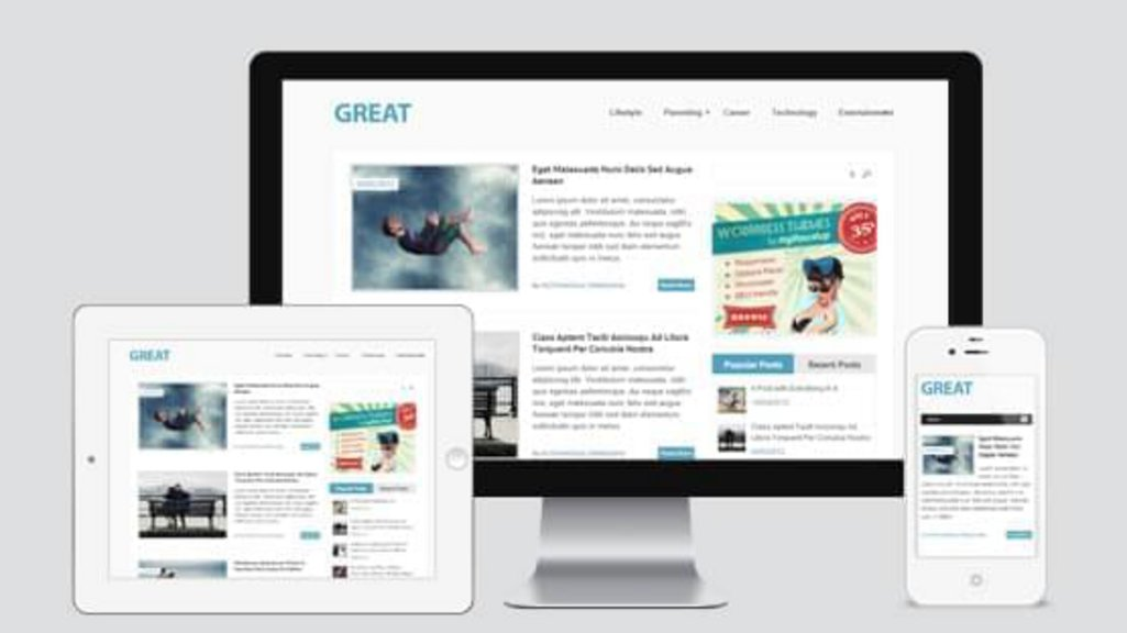 Great - template WordPress gratuit responsive