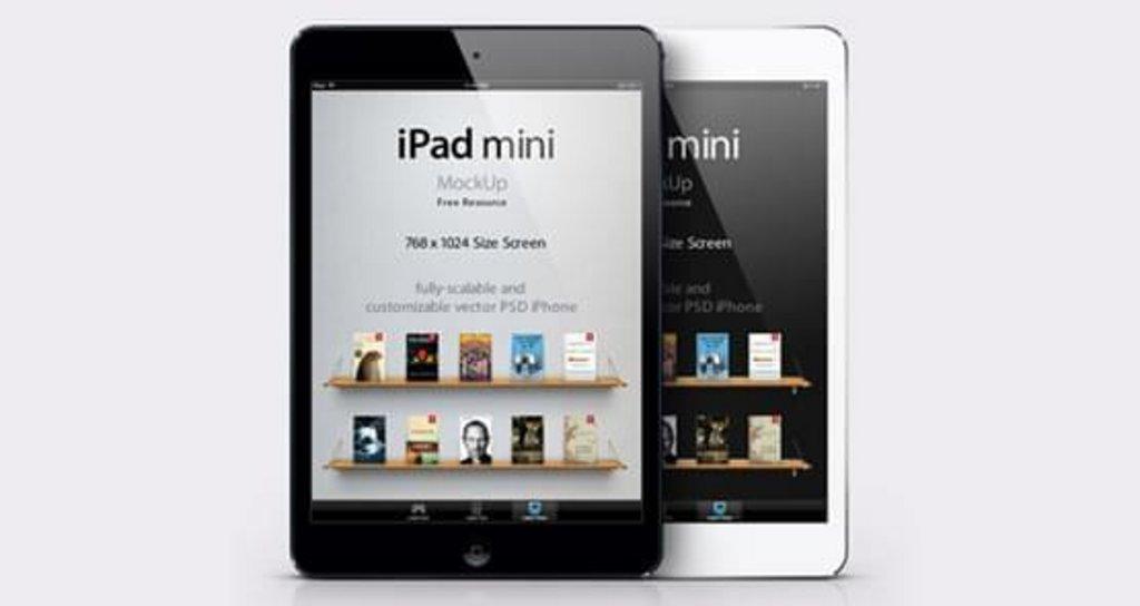 Mockup iPad Mini noir et blanc
