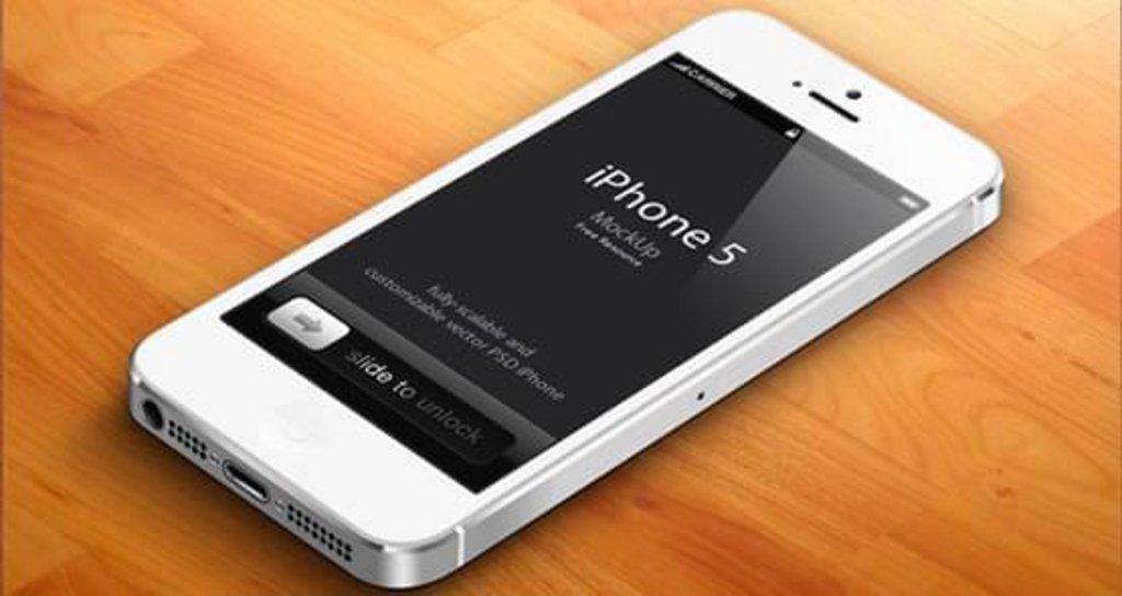 Mockup iPhone 5 blanc 3D