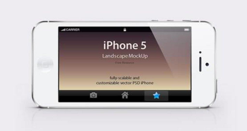 Mockup iPhone 5 noir et blanc vue paysage