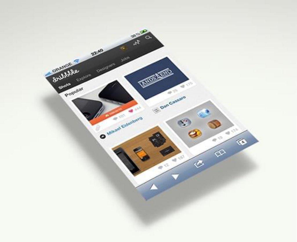 Mockup iPhone noir