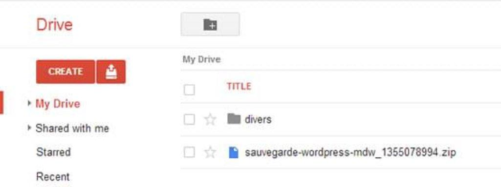 Contrôler la sauvegarde WordPress