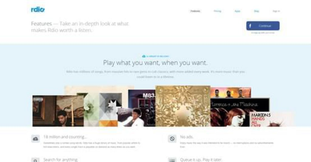 Rdio-Features