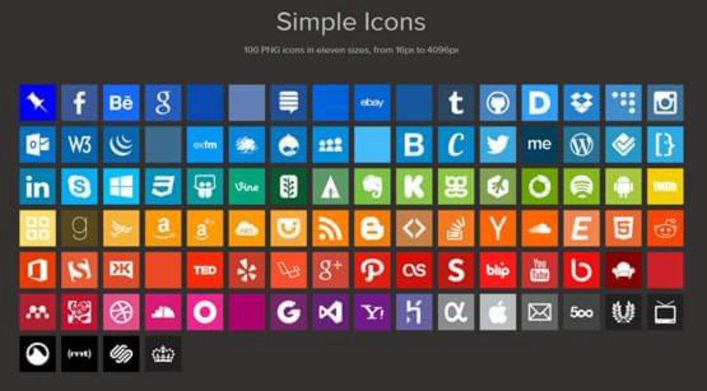 Simple Icons pack icônes gratuites png